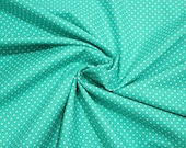 Cotton, mint dotted, dots 2 mm