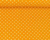 Jersey, mustard yellow, white dots 3 mm