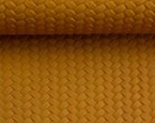 imitation leather, pinto, ochre, mustard, mustard yellow, braided, braided optics
