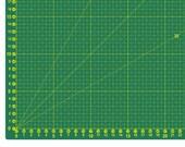 Cutting mat, cutting pad, self-healing 60 x 45 cm, green