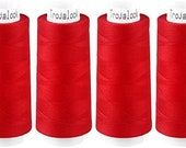 Troylock 120 2500 m, overlock yarn, red