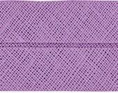 VENO cotton slanted ribbon, lavender, folded 40/20, width 2 cm, pre-folded from 4 cm to 2 cm