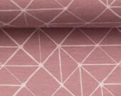 Jersey, Theo, Old Pink/Pink, Geometric Pattern