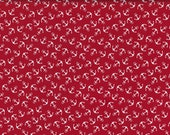 Cotton Baltic Sea, Red, Large White Anchor