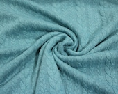 Jacquard knit, quilted look, mint mottled braid pattern