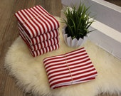 1.00 m cuffs, red/white striped