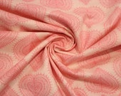 Cotton, salmon, pink, hearts