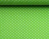 Jersey, light green, white dots 3 mm