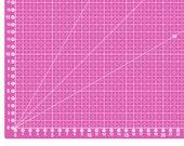 Cutting mat, cutting pad, self-healing 90 x 60 cm, pink