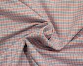 Cotton, pink blue white plaid