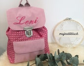 Nursery backpack, backpack for children with name, pink