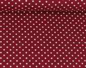 Jersey, Verena 937, bordeaux, white dots 3 mm