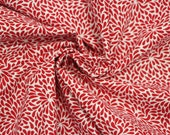 Cotton, white, red, floral