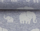 Jacquard Jersey, Grey, Elephant