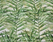 Viscose jersey, green, fern leaves