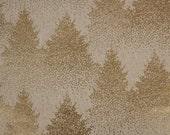 Canvas, decorative fabric, natural, golden dots/fir