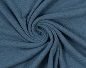 Fine knit, knit, uni smoke blue blue