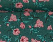 Jersey, petrol, pink flowers, bienvenido colorido