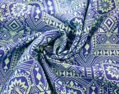 Viscose, blue, light blue patterned