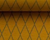 Jacquard jersey, lycklig, mustard yellow, diamond
