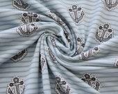 Jersey, light blue, striped, anchor
