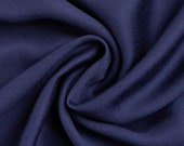 Viscose, satin, viscosesatin, uni dark blue