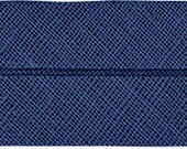 VENO cotton slanted ribbon, dark blue, folded 40/20, width 2 cm, pre-folded from 4 cm to 2 cm