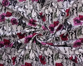 Jersey, grey mottled, horses white, roses pink pink