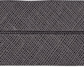 VENO cotton slanted ribbon, anthracite, folded 60/30, width 3 cm, pre-folded from 6 cm to 3 cm