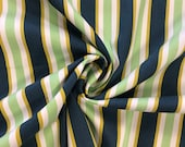 Decorative fabric, canvas, awning stripes, blue green, hamburger love