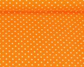 Jersey, Verena 424, orange, white dots 3 mm