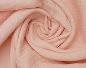 Muslin, Double Gauze, Delicate Pink