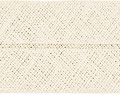 VENO cotton slanted ribbon, natural white, folded 60/30, width 3 cm, pre-folded from 6 cm to 3 cm