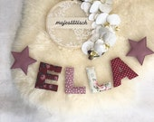 Name chain, letter garland old pink-red