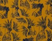 Viscose, Webware, Thorsten Berger, mustard/yellow, Parrot