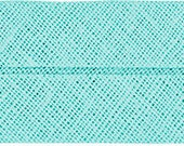 VENO cotton slanted ribbon, mint, folded 40/20, width 2 cm, pre-folded from 4 cm to 2 cm