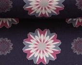 Cotton, Kim, Dark Blue, Flowers