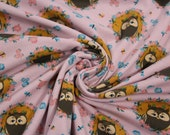 Jersey, Pink, Mustard, Owls