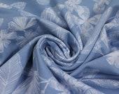 Jersey, light blue, white flowers