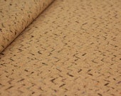 Cork fabric, colorful pointed lines