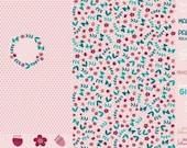 Jersey, Flower Girls, Pink, Panel, Birthday Panel