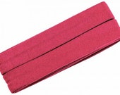 Jersey inclined band, dark pink, width 2 cm, pre-folded from 4 cm to 2 cm, length: 3 m