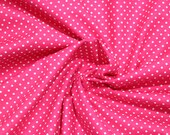 Cotton, pink dotted, dots 2 mm