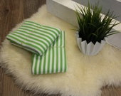 1.00 m cuffs, white/green striped