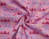 Cotton, pink, pink, geometric pattern