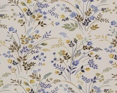 Sweat, cream, mustard, bell blue, flowers and grasses