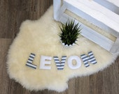 Name chain, letter garland grey-white