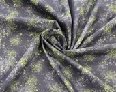 Cotton, black, grey, neon green speckled