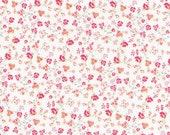 Cotton, Westphalian fabrics, princess, white, pink, orange, grey, floral