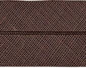 VENO cotton slanted ribbon, dark brown, folded 40/20, width 2 cm, pre-folded from 4 cm to 2 cm